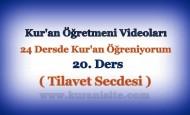 Kur'an Öğretmeni Videoları 20. DERS